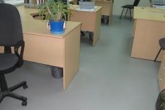 Офис 150 м2. Эпоксидное тонкослойное покрытие с чипсами