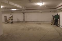 Парковка 1850 м2. Шлифовка бетонных полов