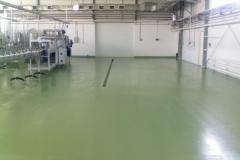 Цех по производству питьевой воды 1500 м2. Эпоксидное тонкослойное покрытие 2мм