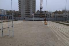 Спортивные площадки 2500 м2.  Шлифовка бетонного основания